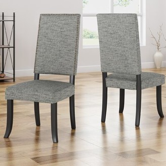 House of Hampton Callihan Upholstered Dining Chair Upholstery Color: Light Teal