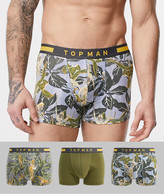 Topman trunk 3 pack with floral print