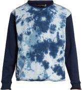 Longjourney Nash tie-dye print cotton sweatshirt