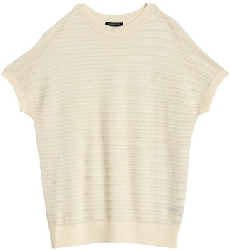 Lafayette 148 New York Relaxed Semi Sheer Dolman Sleeve Top