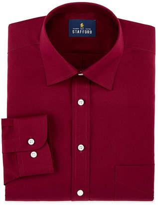Stafford Mens Travel Easy-Care Broadcloth Stretch Dress Shirt
