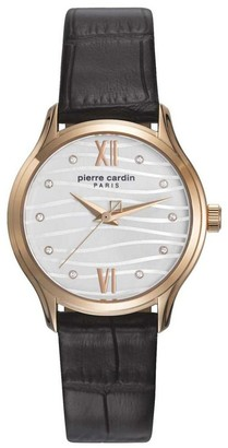 Pierre Cardin Womens Analogue Classic Quartz Watch with Leather Strap PC108162F09