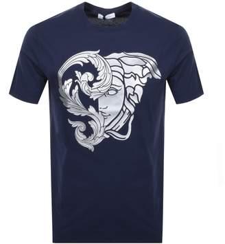 Versace Medusa Logo T Shirt Blue