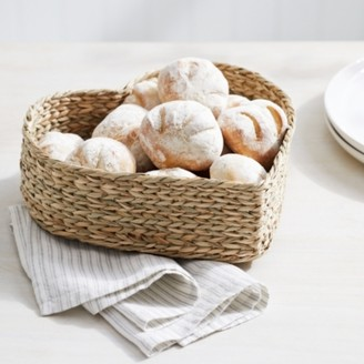 The White Company Seagrass Heart Bread Basket, Natural, One Size