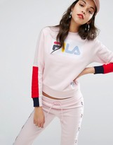 Fila Relaxed Sweatshirt With Deconstructed Sleeves
