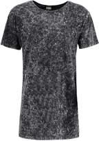 Urban Classics Random Wash Oversize Fit Print Tshirt Schwarz