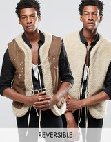 Reclaimed Vintage Reversible Borg Waistcoat