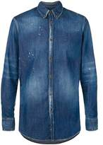 DSQUARED2 Men's Blue Cotton Shirt.