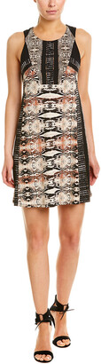 BCBGMAXAZRIA Printed Day Shift Dress