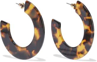 Kenneth Jay Lane Gold-plated Tortoiseshell Resin Hoop Earrings