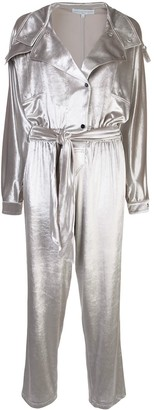 Carolina Ritzler relaxed-fit velvet jumpsuit