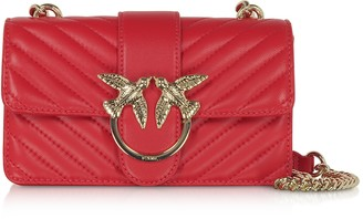 Pinko Love Mini Mix Quilted Nappa Leather Shoulder Bag