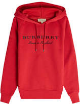 Burberry Embroidered Cotton Hoodie