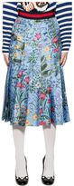 Gucci Celestial New Flora Silk Skirt