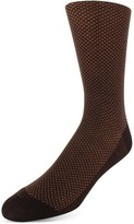 Bruno Magli Birds Eye Pattern Dress Socks