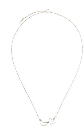 Petite Grand Moon & Star chain necklace