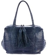 Nancy Gonzalez Twin Tassel Crocodile Bag