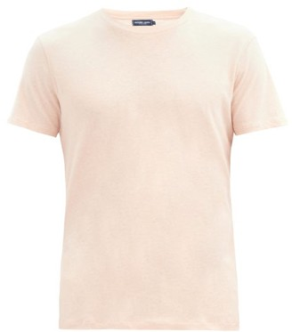 Frescobol Carioca Crew-neck Cotton-blend Jersey T-shirt - Pink