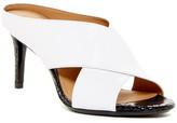 Calvin Klein Luce Snakeskin Embossed Mule Sandal