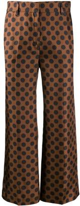 Alberto Biani Polka Dot Print Flared Trousers