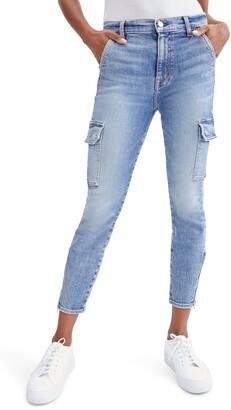Seven London Cargo High Waist Ankle Skinny Jeans
