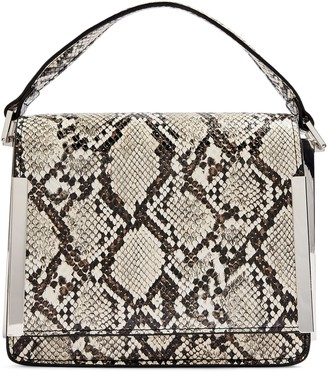 Topshop Lottie Snake Embossed Faux Leather Crossbody Bag