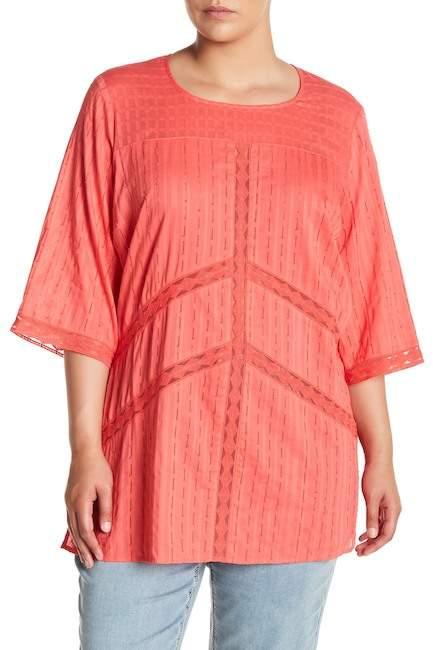 Melissa McCarthy Lace Detail Tunic (Plus Size)