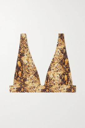 Faithfull The Brand Net Sustain Palolem Snake-print Triangle Bikini Top
