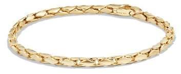 David Yurman Small Fluted Chain Bracelet in 18K Gold