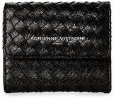 Adrienne Vittadini Black Basket-Weave Coin Purse