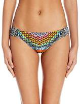Jessica Simpson Women's Dakota Placement Side Shirred Hipster Bikini Bottom