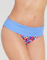 Just Peachy By Figleaves.com Sea Breeze Fold Bikini Brief