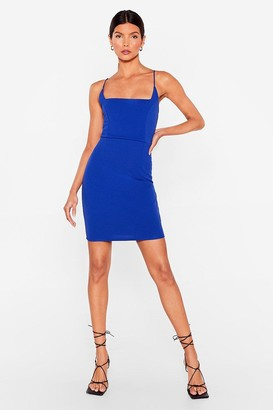 Nasty Gal Womens Red Mini Dress with Square Neckline - Cobalt