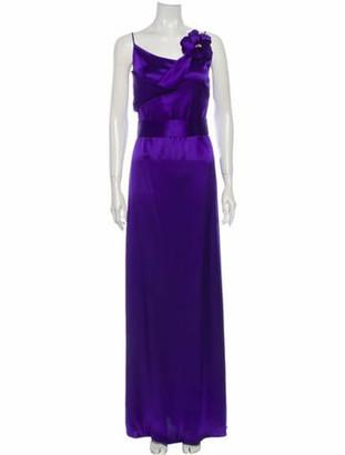 Lanvin Cowl Neck Long Dress w/ Tags Blue
