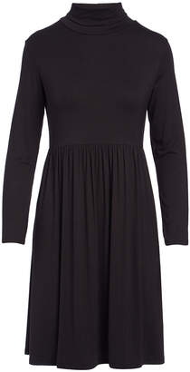 Bella Flore Women's Casual Dresses BLACK - Black Long-Sleeve Turtle Neck Dress - Women & Plus