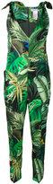 Max Mara jungle print jumpsuit - women - Silk/Polyamide/Acetate - 44