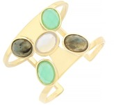 Cole Haan Faceted Oval Stone Cuff Bracelet