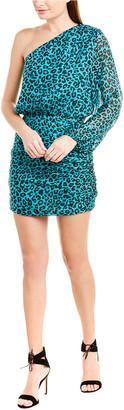 Mason by Michelle Mason One-Shoulder Silk-Lined Mini Dress