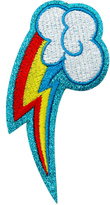 My Little Pony Rainbow Dash Cutie Mark Glitter Patch