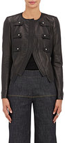 Derek Lam Women's Lambskin Military Jacket-BLACK
