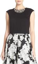 Eliza J Women's Embellished Crop Top