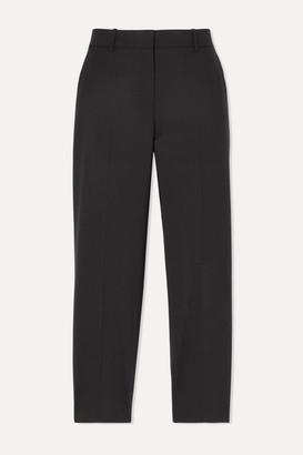 Theory Treeca 2 Cropped Stretch-wool Slim-leg Pants