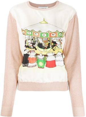 Lanvin Babar print jumper