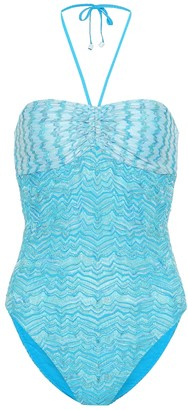 Missoni Mare Crochet halterneck swimsuit