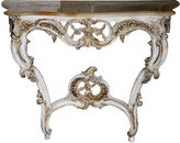 One Kings Lane Vintage French-Style Onyx-Top Console