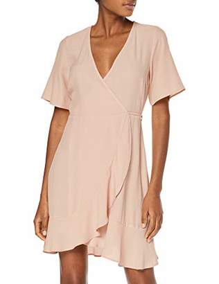 New Look Women's Ruffle Hem Mini Dress,6 (Manufacturer Size:6)