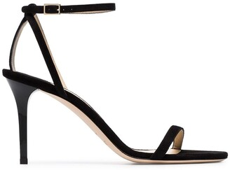 Jimmy Choo black Minny 85 strappy leather sandals