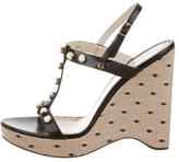 Jason Wu Leather Pearlescent Wedges