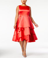 Adrianna Papell Plus Size Tiered Fit and Flare Dress
