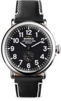 Shinola Runwell Stainless Steel & Leather Strap Watch/Black